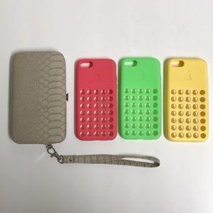 Four iPhone 5c cases